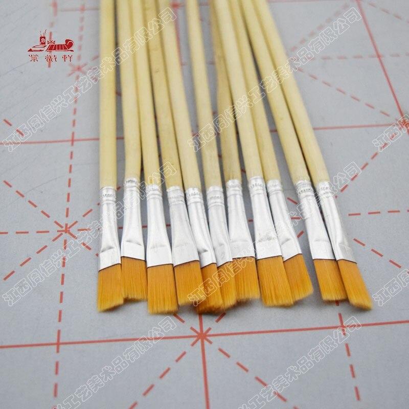 100 pcs mao fina unico suporte pincel de pintura conjunto de tintas acrilicas nailon digital pincel