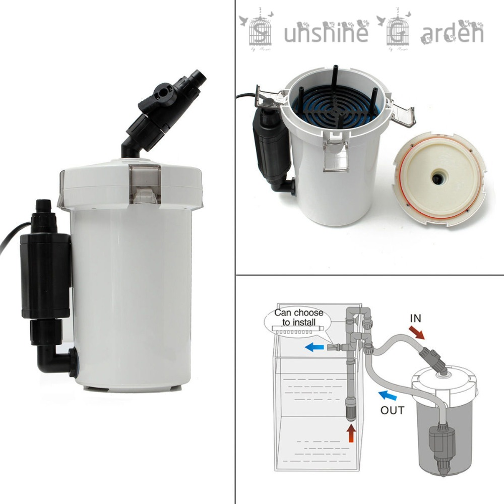 Fish tank external filter - Aliexpress Com Buy Brand 6w Aquarium Fish Tank External Canister Filter With Air Pump Table Top Hw 602b 400l H 220v New From Reliable Tank Armor