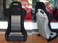 One Lot 2 Pcs Buckets Series Car Seat MJ Silvery Fiberglass Frame Black Blue Red Alcantara