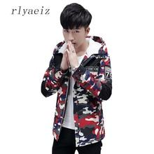 Rlyaeiz Parka Men Coats Winter Jacket Men Slim Plus Velvet Thicken Hooded Outwear Warm Coat Brand Clothing Casual Mens Jackets