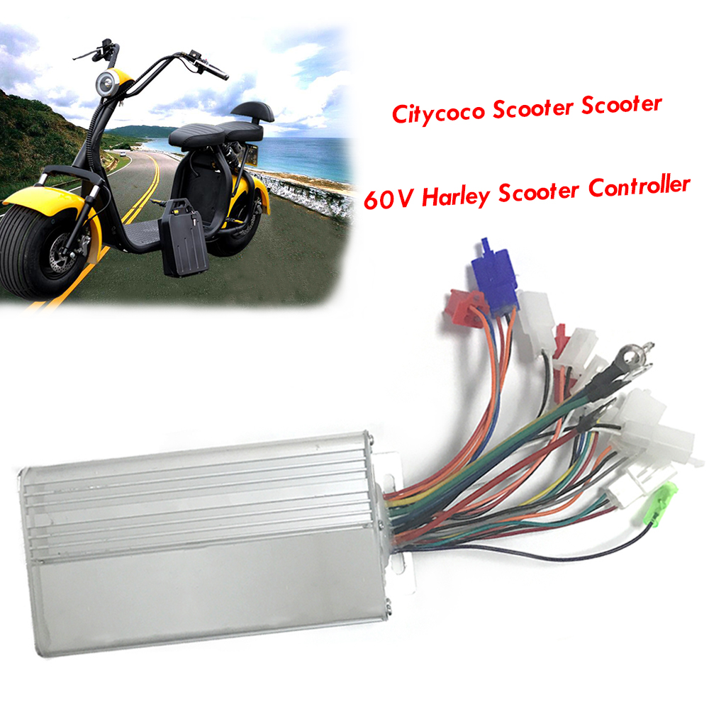 60V 1000W 2000W Electric Bicycle Motor MOFSET Brushless Controller E-bike Scooter BLDC Controller Harley Scooter Controller panlongic 48 60v 2000w 2kw electric bicycle e bike scooter brushless controller hub motor bldc motor controller 24 mofset
