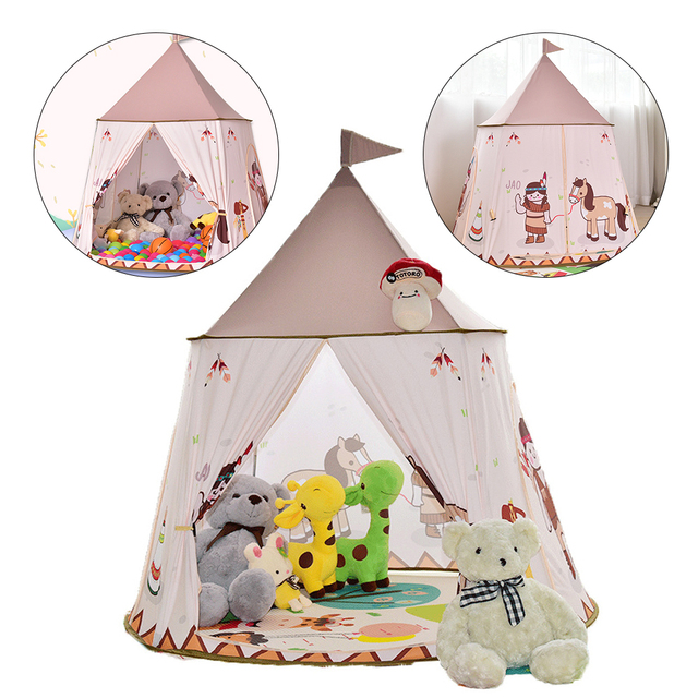 Princess Castle Cartoon Tents Portable Children's Room Outdoor Garden Play Teepee Tipi Tent Lodge Kids Balls Pool Playhouse