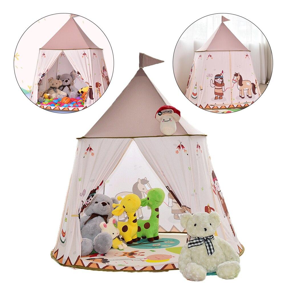 Princess Castle Cartoon Tents Portable Children's Room Outdoor Garden Play Teepee Tipi Tent Lodge Kids Balls Pool Playhouse