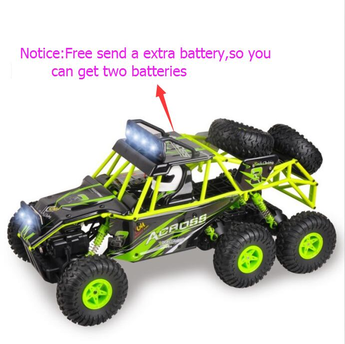 New arrival six wheel bigfoot rc Off road vehicle 18628 2.4G 4WD 1:18 remote control rock crawler racing buggy car toy vs 12428