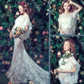 2017 Maternity Photography Props white Elegant Long Fairy Trailing Dress Pregnancy Photo Shoot Shower for pregnant women M735