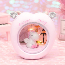 Ins Cartoon Unicorn Lamp LED Night Light Luminaria Baby Nursery Toy Dolls For Kids Gift Home Decoration