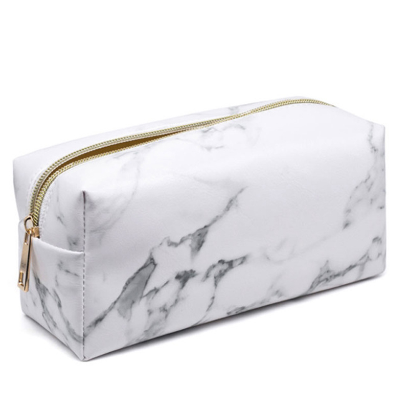 Brand New Marble Pencil Case Makeup Storage For Girls Big Cosmetic Bag Pencil Box Pencilcase Bag School Gift Stationery Supplies new leather pencil case bag for school boys girls vintage pencil case box stationery products supplies as gift for student