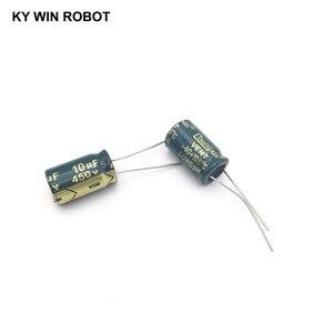 Image 3 - 10 adet Alüminyum elektrolitik kondansatör 10 uF 450 V 10*17mm frekuensi tinggi Radyal Elektrolitik kondansatör
