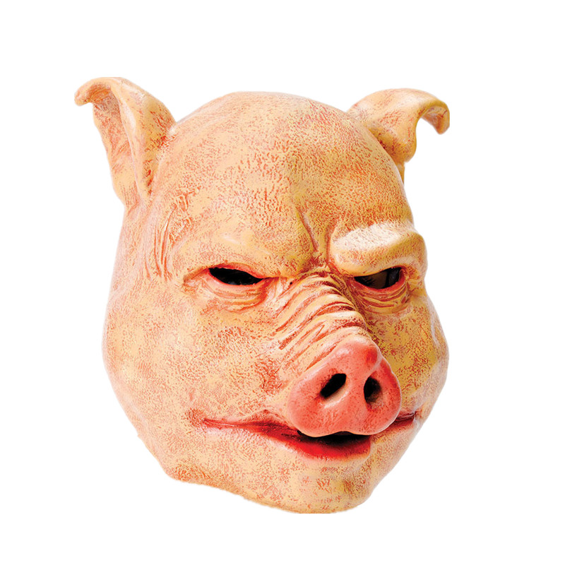 X-Merry Toy Free Shipping Horror Pig Halloween Latex Full Face Mask Fancydress Accessory Overhead Free Shipping