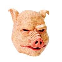 X-Vui Vẻ Đồ Chơi Miễn Phí Vận Chuyển Horror Pig Halloween Latex Full Mặt Nạ Fancydress Phụ Kiện Overhead Miễn Phí Vận Chuyển