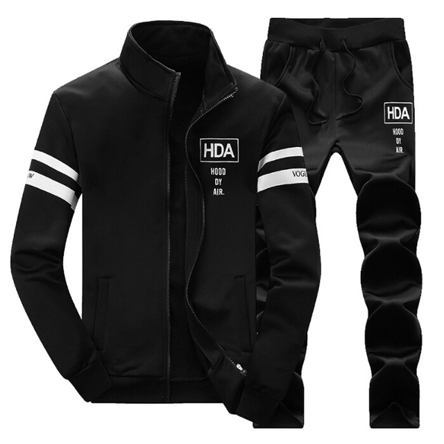 Zipper Jacket+Pant Sets 2017 Autumn Men Casual Hoodie Sportsuit Men's Sweatshirt Tracksuit Male pants mens sportswear suits