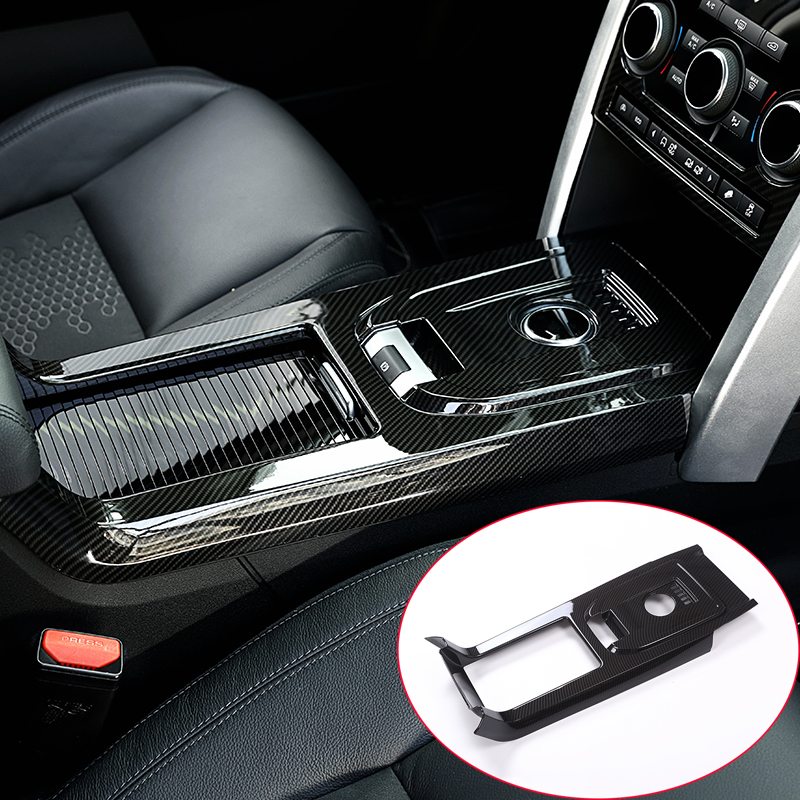 For Land rover Discovery Sport 15-17 Car-Styling Carbon fiber Center Console Gear Shift Cover Trim Car Accessories 1pc yaquicka car central console gear shift panel frame trim styling cover for land rover discovery sport 2015 2016 accessories