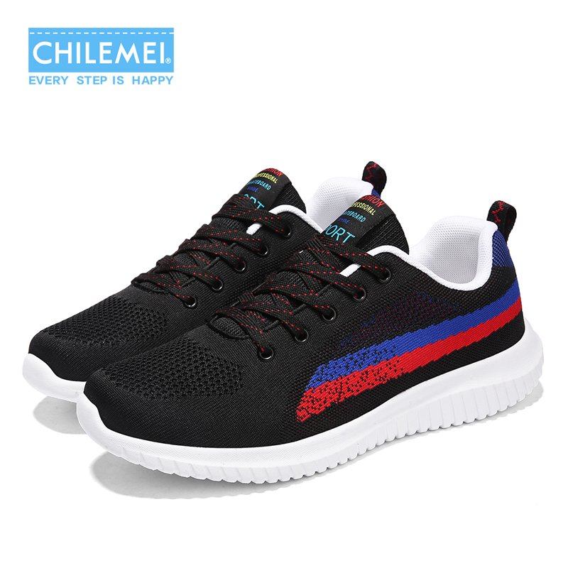 2018 Mens Shoes Casual Shoes Flying Weaving Mens Travel Shoes Large size 39-48 Breathable Mixed Color Young Boy Fashion