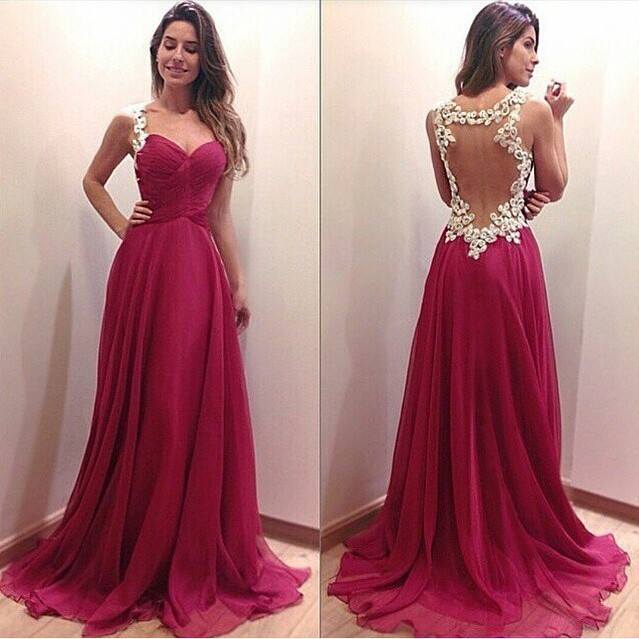 2015 Evening Dresses Ebay Deep V-neck Sexy Women Long Chiffon Dress Formal  Gowns Vintage Red Lace Evening Dresses Free Shipping f11dde6f4d0c