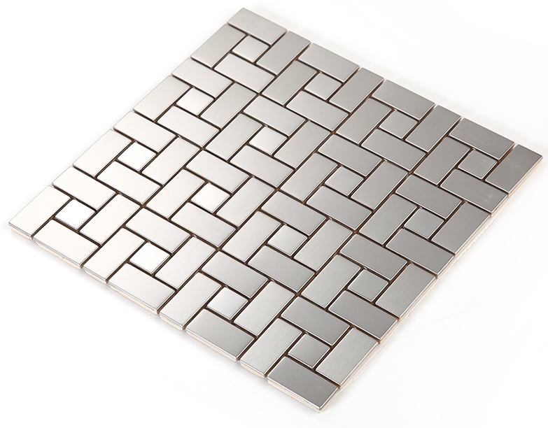 FREE SHIPPING Metal Stainless steel plate silver color mosaic art wallpaper tile,kitchen backsplash home wall decor,SA234801 rose gold stainless steel metal mosaic glass tile kitchen backsplash bathroom background decorative art mosaic wall tile sa073 9