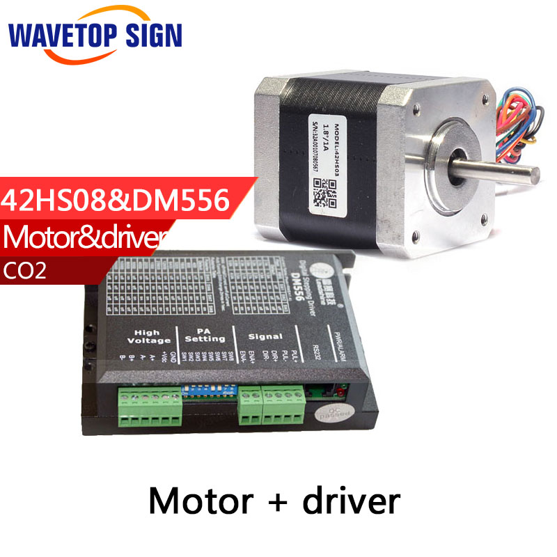 Leadshine 2 phase Stepper Motor 42HS02 42HS03 42HS08 and Leadshine 3 Phase digital Stepper Driver DM556 3 phrase leadshine 573s15 step motor