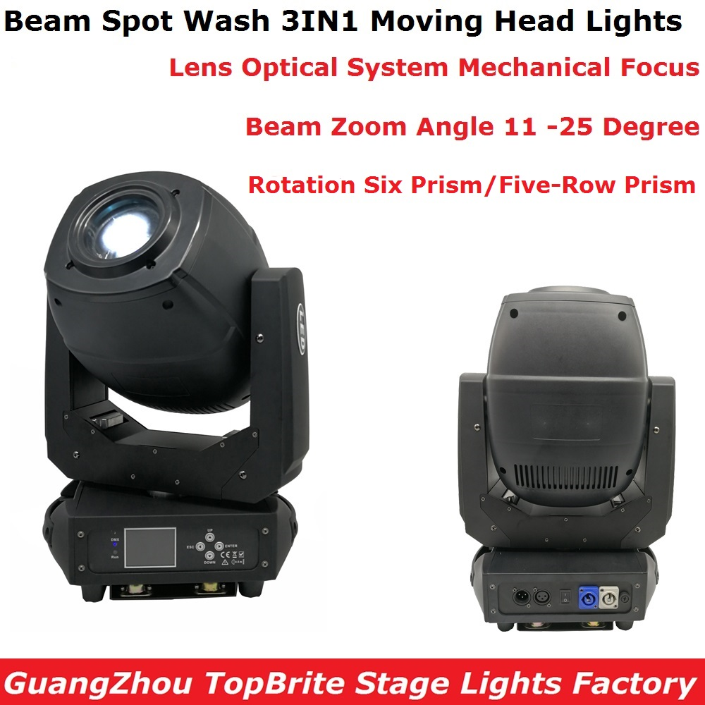 Free Shipping LED 230W Beam Spot Wash Moving Head Lights Dj Stage Zoom Lights DMX 6/18 Chs Professional Lighting Shows Equipment