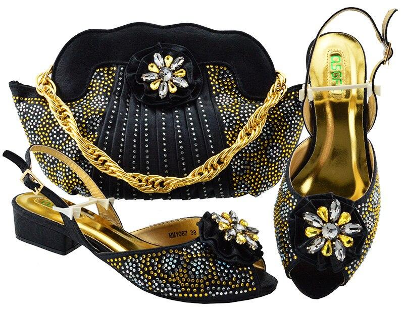 Здесь продается  Best price african style shoes matching bags Italian designs high heels 3cm with clutch bags   Обувь