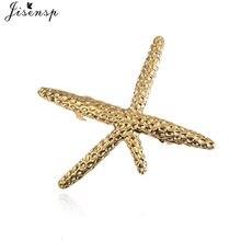 Jisensp moda geométrica Metal Coral estrella pelo Clip para mujeres Barrette pelo Pin oro Shell gran estrella horquillas herramienta de estilismo
