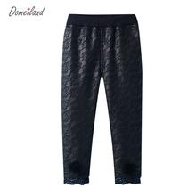 2017 marque de mode DOMEI TERRE coréenne pour enfants vêtements enfants fille pu coton dentelle Florale de sucrerie legging pantalon vêtements