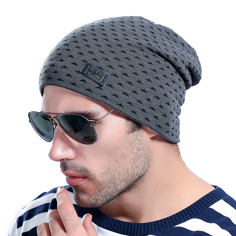 2017 Casual Brand Men Winter Hat Beanie Hats Fur Warm Baggy Knitted Skullies Bonnet Ski Sports Adult Cap New Arrival Beanies 2017 top fashion promotion adult winter caps bonnet femme warm ski knitted crochet baggy beanie hat skullies cap hiphop hats