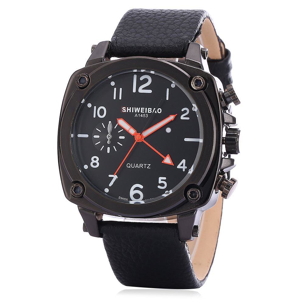 New Mens Watches Military Army Wrist Watch For Men Leather Strap Big Case Man Clock Male Sports Saat Erkekler Luxury Brand Hours