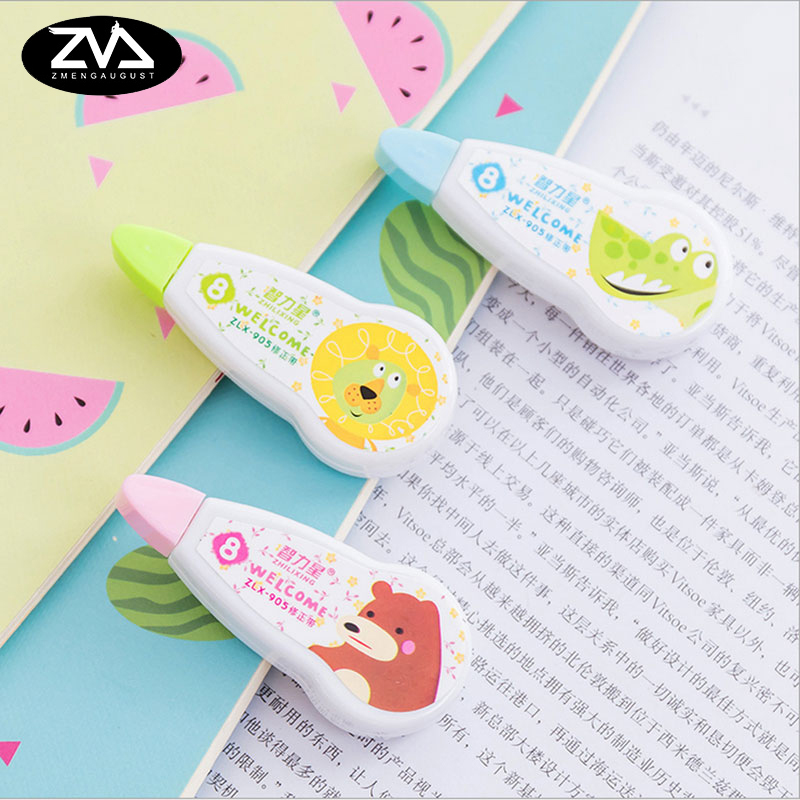 1X Mini Kawaii Plastic Correction Fluid Corrector Tape Creative Correction Tape Office School Supplies Stationery Free Shipping