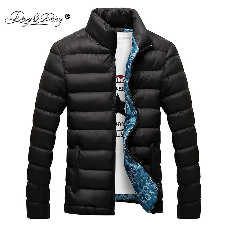 DAVYDAISY 2019 nouveau hiver hommes veste col montant ultraléger Parka hommes décontracté chaud manteau mâle marque survêtement M 6XL JK056-in Parkas from Vêtements homme on AliExpress - 11.11_Double 11_Singles' Day 1