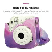Mini Camera Bag Gradient PU Leather Shoulder Fantasy Case Is Easy To Carry