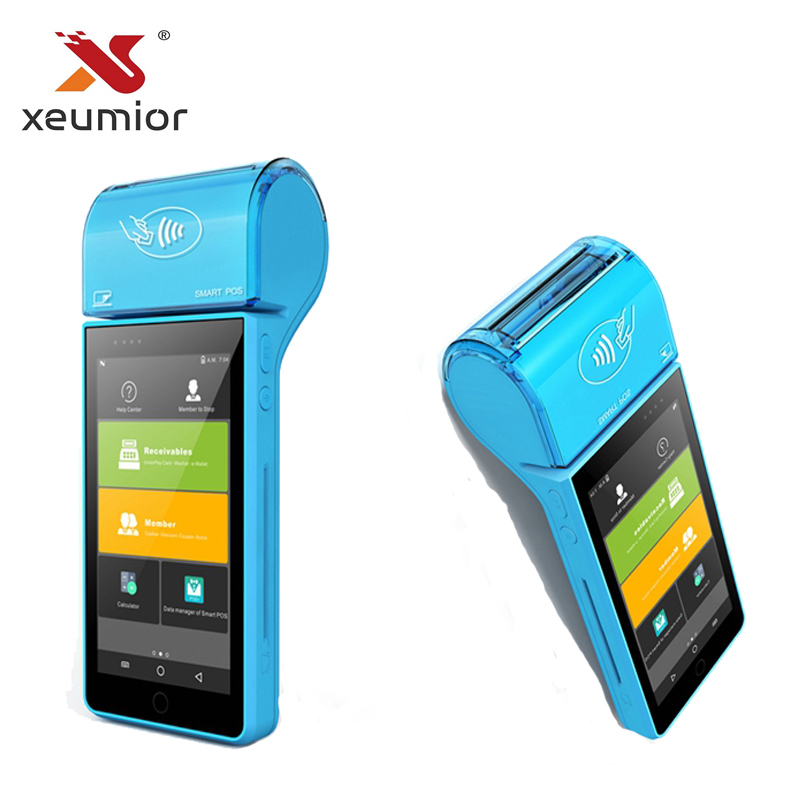 Android 7.0 Smart EMV Mobile POS Machine Payment Terminal Portable Mini Mobile POS System with Thermal Printer Qr code Scanner pos 50 relays
