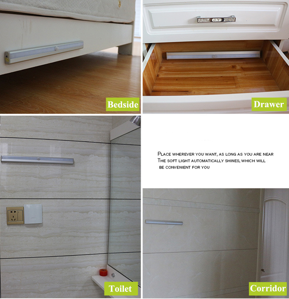 GO OCEAN Under Cabinet Lights Kitchen Lighting IR Motion Sensor 20 LEDs Night Lamps USB Chargeable Stair Light Closet Lamp (19)