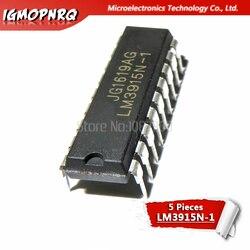 5 pces LM3915N-1 lm3915n lm3915 dip-18 led iluminação drivers ponto/barra exibição drvr novo original