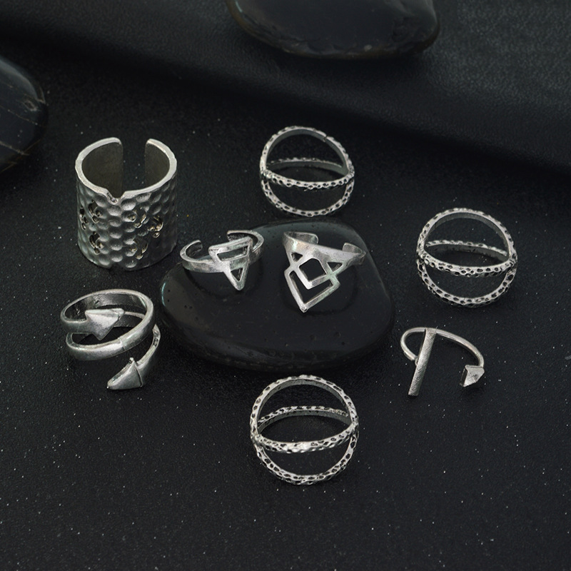 8pcs Set Bohemian Style Geometric Ring Sunny Beach Fashion Retro Lady Party Jewelry In Rings From Accessories On Aliexpress
