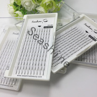 5trays 5D russian volume lash short stem premade fans individual eyelash extensions false fake lashes