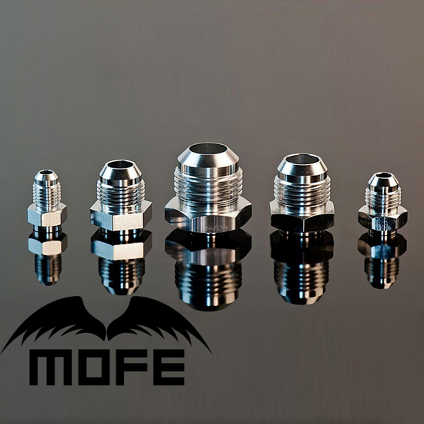 MOFE 25PCS/LOT AN4 + AN6 + AN8 + AN10 + AN12 Male Aluminum Weld On Fitting Bung Adapter Hex Base