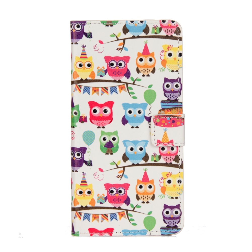 Flip Case for For Moto G4 G5 G6 PU Leather Butterfly Flower Tower Sleepy Owl Retro Pattern Wallet case for g5plus g6plus g4plus