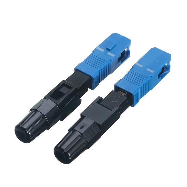 Drop Shipping 100PCS FTTH SC UPC Single-mode Fiber Optic SC UPC Quick Connector FTTH Fiber Optic Fast Connector SC Connector