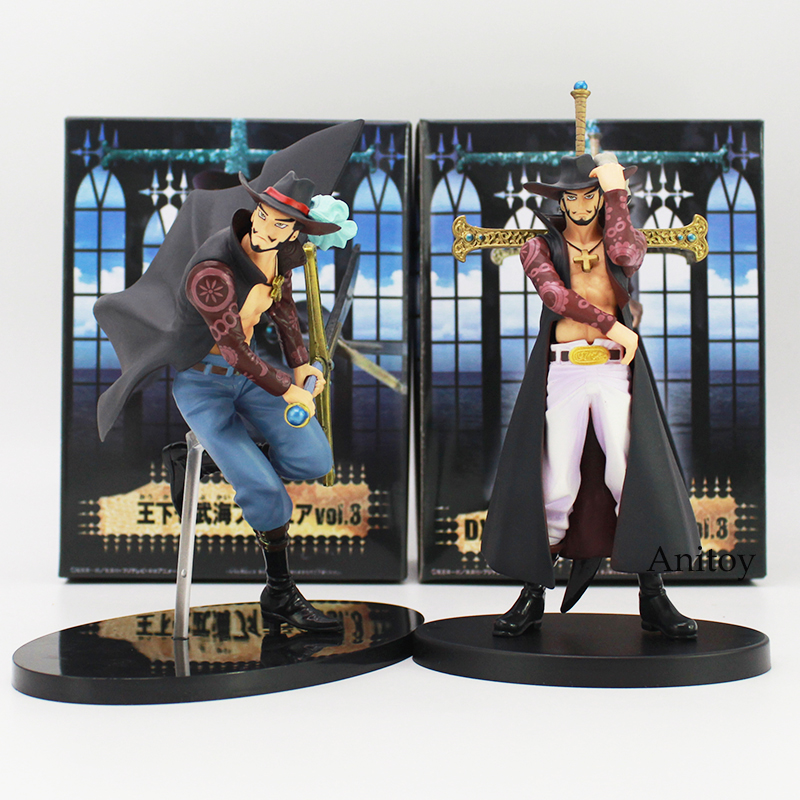 One Piece Oka Shichibukai vol.3 Dracule Mihawk PVC Action Collectible Figure Model Toy 16cm 2 Styles