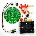 12 позиция из светодиодов электронные лаки поворотные комплект доска, На основе PIC12F508 MCU