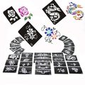 Painting Stencils Painted Template Glitter Tattoo 2000 pieces mixed designs Free Shipping