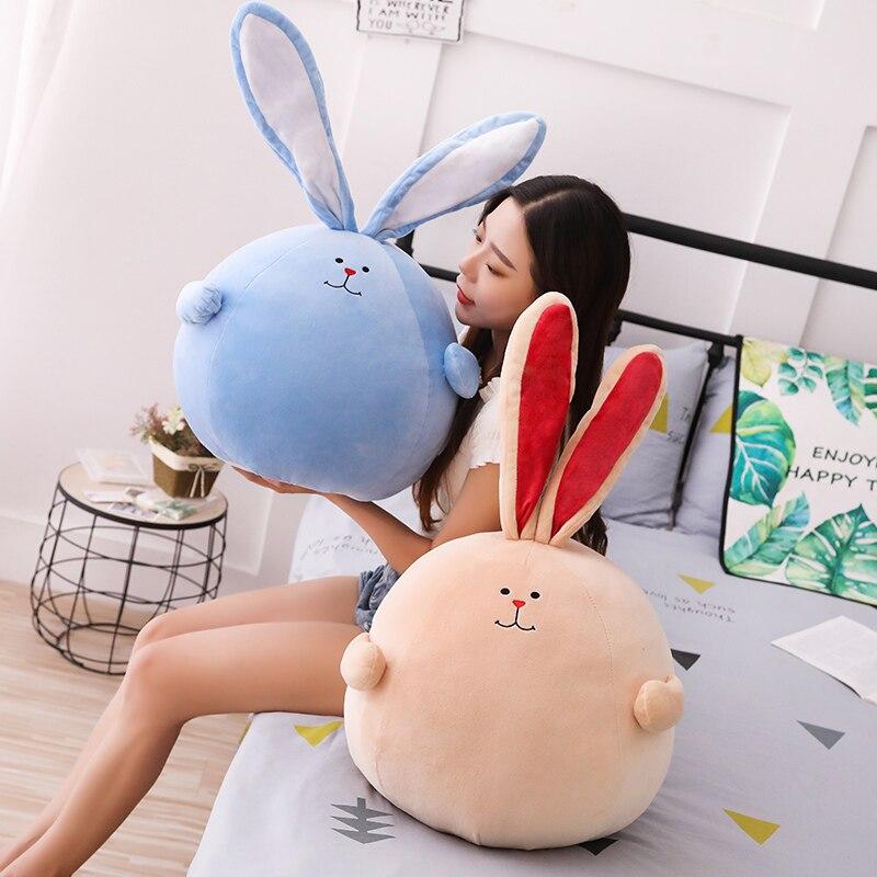 Grand corps rond dodu avec longue oreille Flexible en peluche lapin en peluche Placating lapin jouet cadeau pour bébé enfant enfants