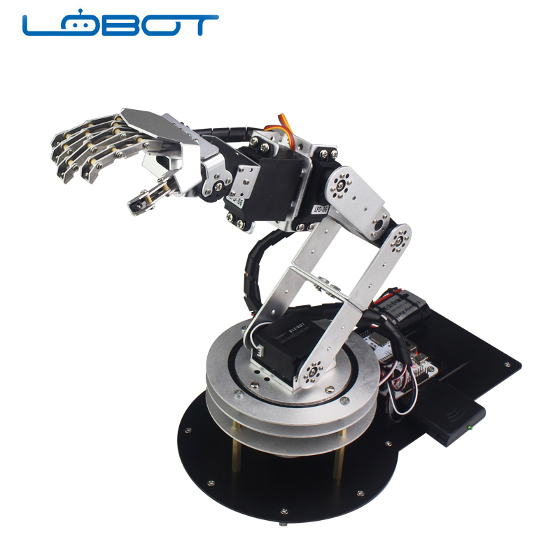 6DOF Robot Arduino Servo Dancing Arm Hand Kit for Humanoid Remote Control Educational RC Parts Robot Toy6DOF Robot Arduino Servo Dancing Arm Hand Kit for Humanoid Remote Control Educational RC Parts Robot Toy