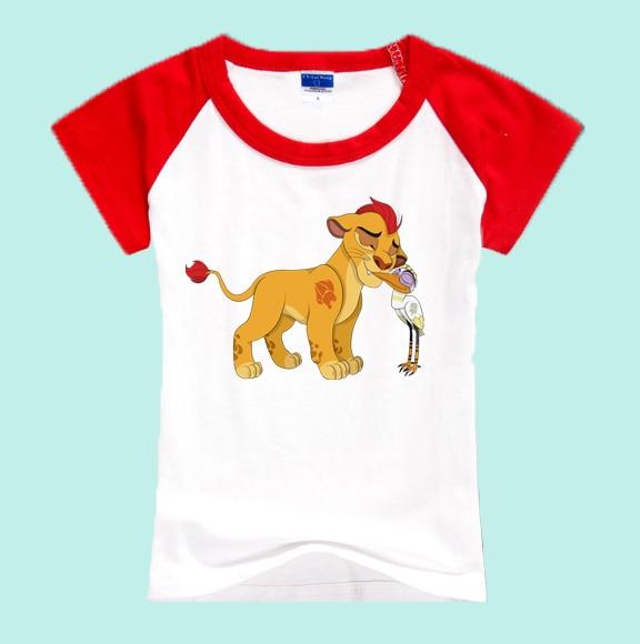 Baby T-shirt 2019 Movie Lion King Print T-shirt Children Clothes Summer Funny Cartoon Children T-shirt Boy Girl HHY517B