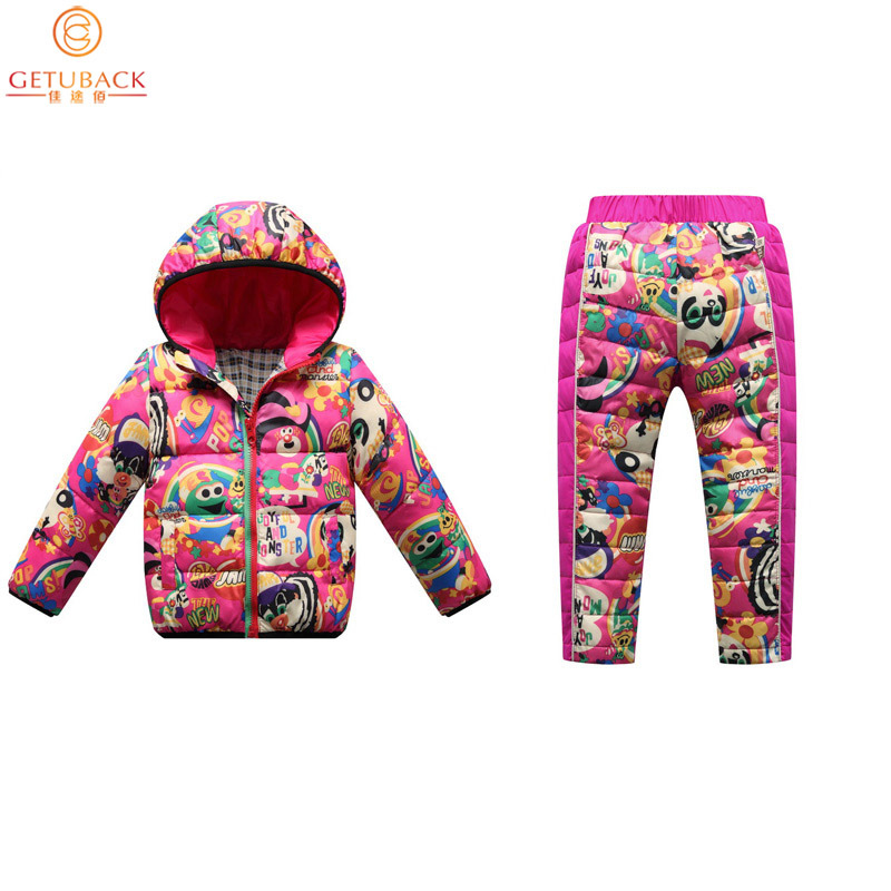 2019 Kids Thermal Clothing Sets White Duck Down Padded for Winter Boys & Girls Jacket + Trousers Baby Children Warm Suits, HC5232019 Kids Thermal Clothing Sets White Duck Down Padded for Winter Boys & Girls Jacket + Trousers Baby Children Warm Suits, HC523