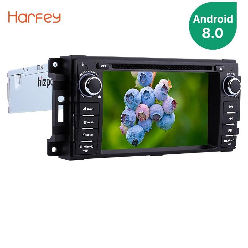 Harfey Android 8,0 7 дюймов 1Din автомобиля радио для 2008 2009 2010 Jeep Commander gps навигации стерео Мультимедийный Плеер сенсорный экран