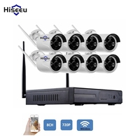Wireless 720P NVR Kits 8CH CCTV System WiFi Bullet IP Camera IR CUT Night Vision Home