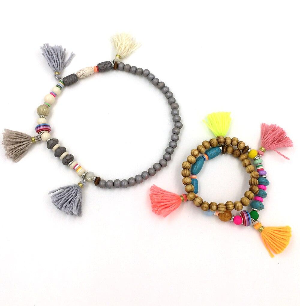 Aliexpress : Buy 2017 Bohemia Ethnic Jewelry Friendship Bracelets  Colorful Tassel Charms Bracelets Rosary Beaded Bangle Charm Seed Bead  Bracelets From