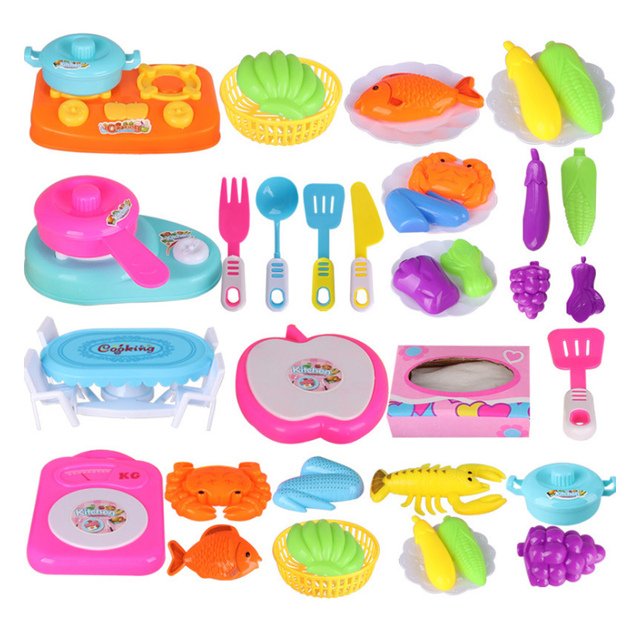 New 4 Types 1 Set Simulation Kitchen Toys Food Fruit Vegetable Pretend Play Children Kids Educational Toy Cooking Cosplay Gifts