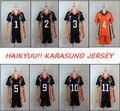 9 Estilos Haikyuu!! karasuno High School de Vôlei Clube Sportswear Traje Cosplay Hinata Shyouyou Kageyama Tobio Uniforme Camisa