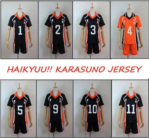 9styles Haikyuu!! Karasuno High School Volley Ball Club Sportswear Cosplay Costume Hinata Shyouyou Kageyama Tobio Jersey Uniform